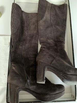 Homers Platform Boots dark brown