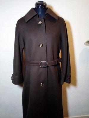 dunkelbrauner Wintermantel aus Wolle