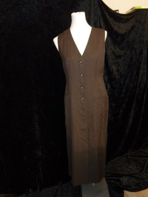 Zapa Geklede jurk donkerbruin
