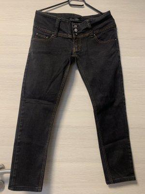 Dunkele Jeans mit 2 Knöpfen