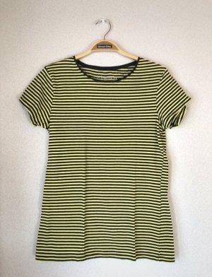 Dunkelgrau/gelb gestreiftes Tshirt