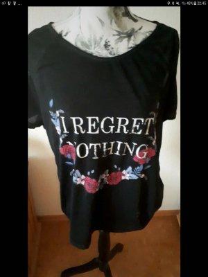 dunkelgrau/schwarzes Tshirt mit Cut-outs