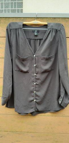 dunkelgraue Bluse von H&M Gr. 34