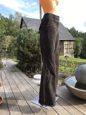 Dunkelgraue Cord-Schlaghose * Größe 38/40 * Neu und ungetragen