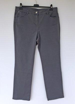Basler Pantalón de cinco bolsillos gris claro Algodón