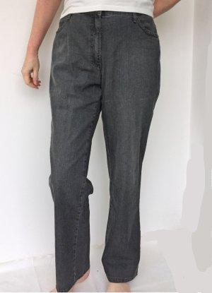 Brax Jeans taille haute gris foncé coton