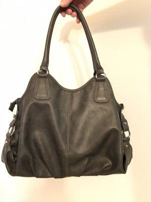Dunkelgraue Handtasche