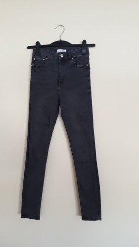 Dunkelgraue High Waist Jeans von Zara