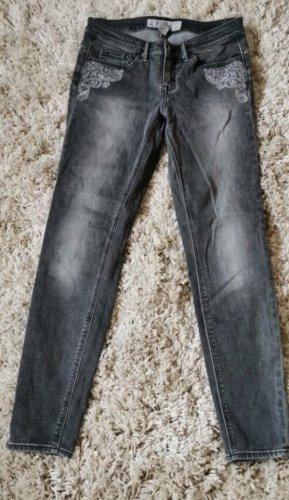 H&M Vaquero estilo zanahoria gris oscuro-gris claro