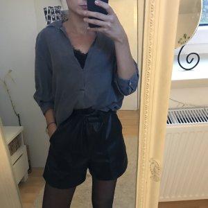 dunkelgraue Jeansbluse