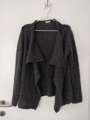 Dunkelgraue Kuschelweste/Strickjacke für den Winter