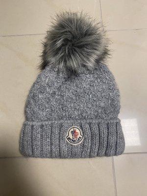 Moncler Sombrero de tela gris oscuro