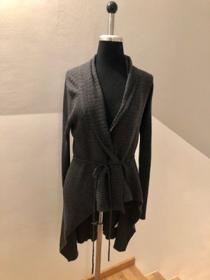 Lanius Knitted Wrap Cardigan grey mohair