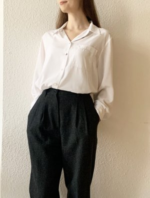 Vintage Pleated Trousers dark grey-anthracite