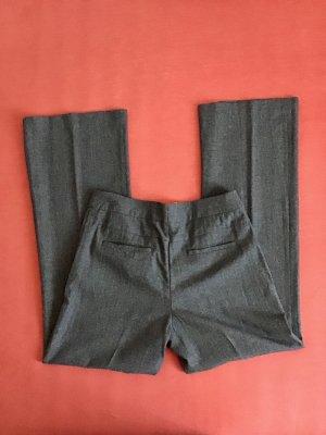H&M Pantalone di lana grigio scuro Tessuto misto