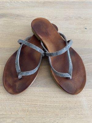 Inuovo Toe-Post sandals grey-silver-colored