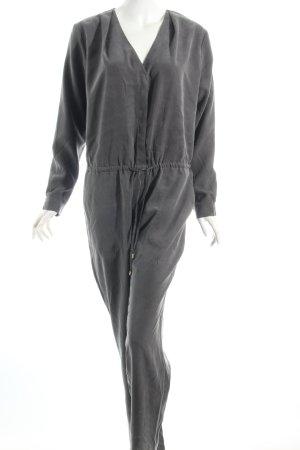Dunkelgrauer Jumpsuit in Washed-Optik * samtig weiches Material
