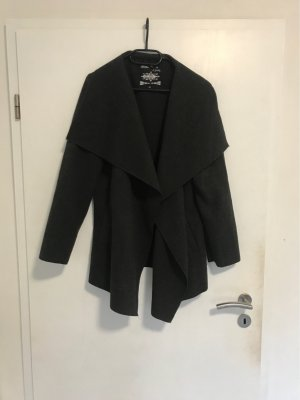 Manteau court gris anthracite