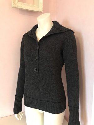 Esprit Wełniany sweter ciemnoszary Moher