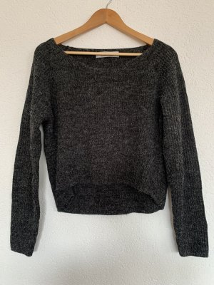 Dunkelgrauer Strick Pullover only