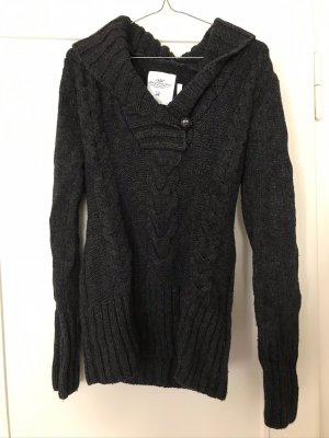 H&M L.O.G.G. Wełniany sweter ciemnoszary
