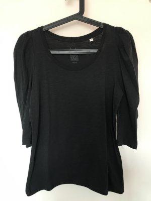 Dunkelgraues 3/4-Shirt mit Puffärmeln