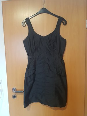 Dunkelgraues Kleid Trägerkleid