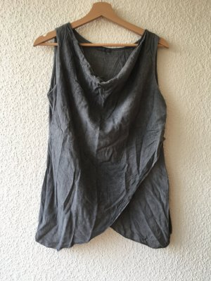 Cowl-Neck Shirt taupe cotton