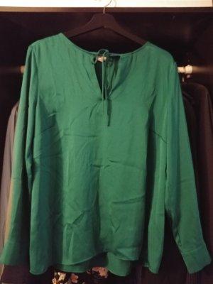 H&M Glanzende blouse bos Groen