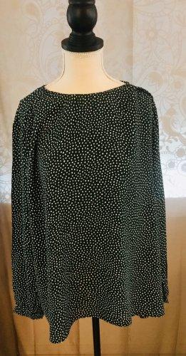 H&M Oversized blouse donkergroen-wit