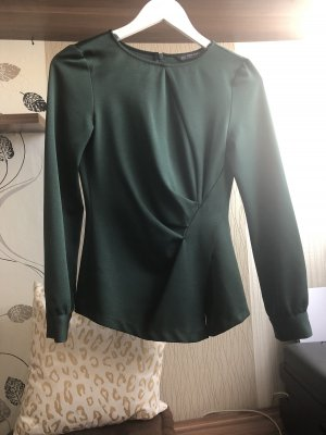 Dunkelgrüne Bluse Zara