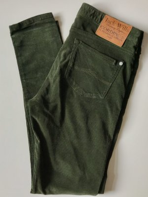 Jack Wills Pantalón de pana verde oscuro