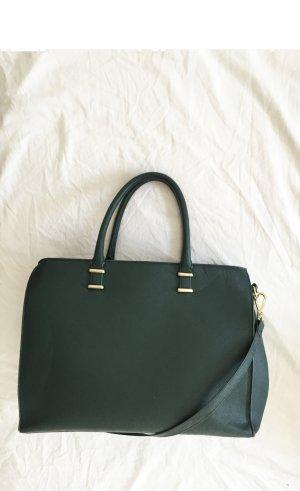 Dunkelgrüne große Tasche mit goldenen Details von H&M