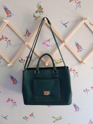 Dunkelgrüne Handtasche