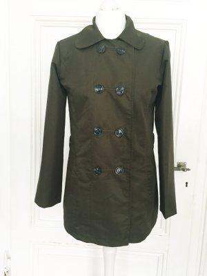 Dunkelgrüne Jacke mit Knöpfen und Bubikragen von La Redoute