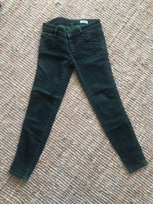 Closed Jeans vita bassa verde scuro