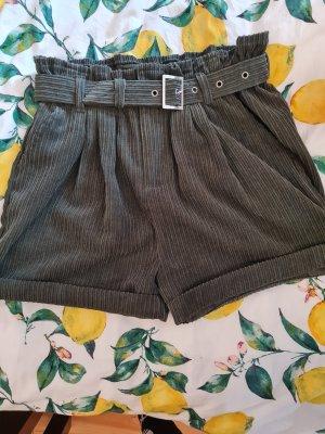 New Yorker High-Waist-Shorts dark green