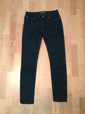 Dunkelgrüne lange Stretch Hose/Stoffhose, Skinny Jeans, Gr. 27/32