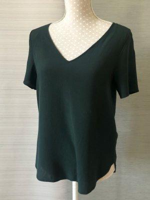Dunkelgrüne, luftige Bluse von H&M