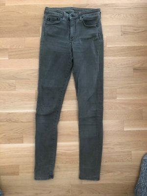Dunkelgrüne Shaping Jeans