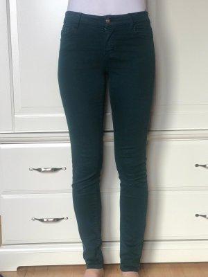 Dunkelgrüne Skinny Jeans / Hose Massimo Dutti