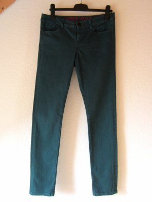 Dunkelgrüne Slim Fit Jeans 28/33
