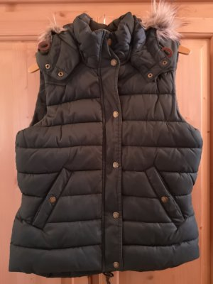 H&M L.O.G.G. Quilted Gilet dark green