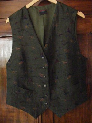 Altenbeurer Traditional Vest dark green-dark blue