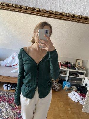 """Dunkelgrüner Cardigan aus Wolle in Größe """"M"""""""