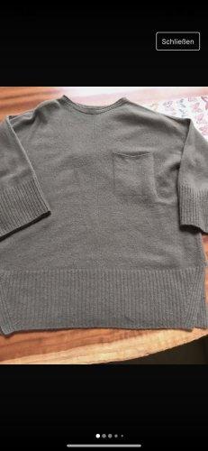 Stefanel Kaszmirowy sweter khaki Kaszmir