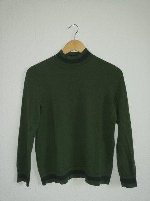 COS Pull en laine noir-vert foncé