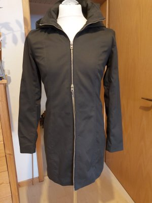 Only Trench Coat dark green mixture fibre