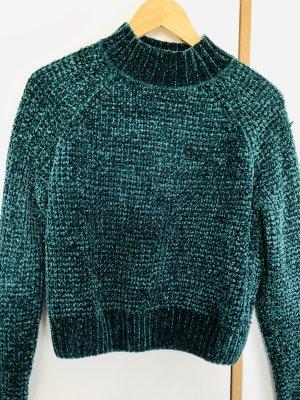 Dunkelgrüner Pullover von H&M