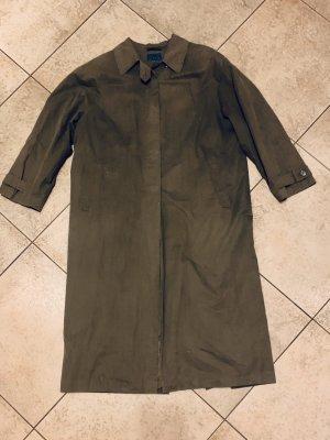 Dunkelgrüner Regenmantel in Übergröße/ Trenchcoat v Fox's  80er True Vintage Gr. 42/XL